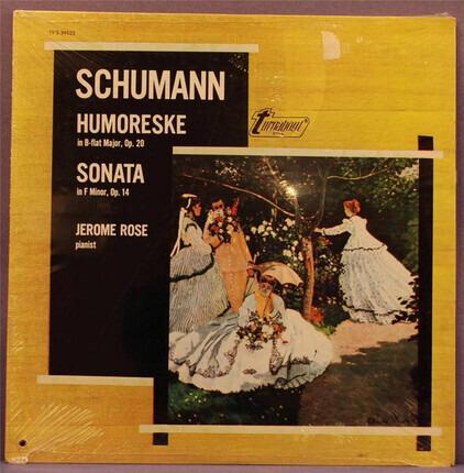 #<Artist:0x00007fefd2b22270> - Humoreske In B-flat Major, Op. 20 / Sonata In F Minor, Op. 14