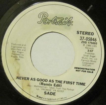 #<Artist:0x00007f343feb1368> - Never As Good As The First Time / Never As Good As The First Time (Remix Edit)