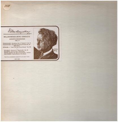 #<Artist:0x00007f04c8e6f478> - Willem Mengelberg Conducts - Acoustic Recordings Vol. II