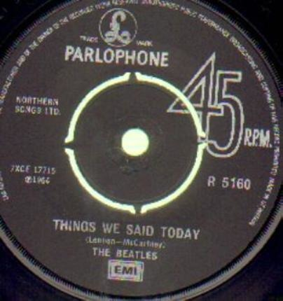 #<Artist:0x00007f7dfd37a7d0> - A Hard Day's Night / Things We Said Today