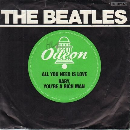 #<Artist:0x00007f4aa537e8e8> - All You Need Is Love / Baby You're A Rich Man