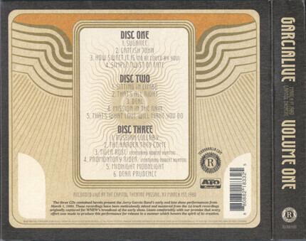 #<Artist:0x00007f4131c6c158> - GarciaLive Volume One: March 1st, 1980