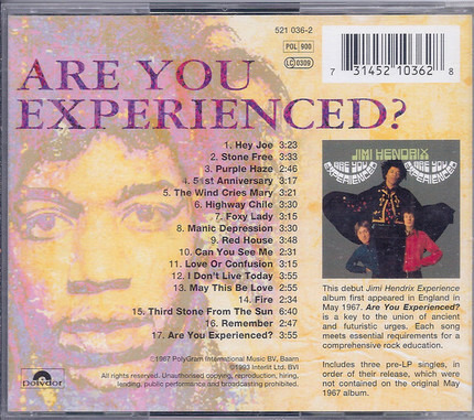 #<Artist:0x00007fcee31c3270> - Are You Experienced