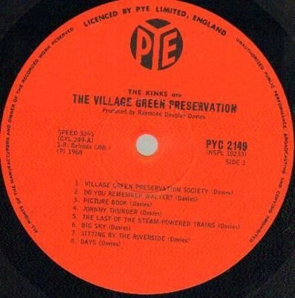 #<Artist:0x0000000008aaab38> - The Kinks Are The Village Green Preservation Society
