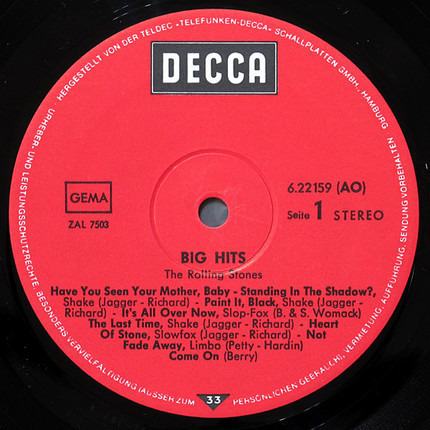 #<Artist:0x00007fcee1e8dc28> - Big Hits (High Tide And Green Grass)