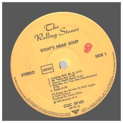 #<Artist:0x0000000006434a58> - Goats Head Soup