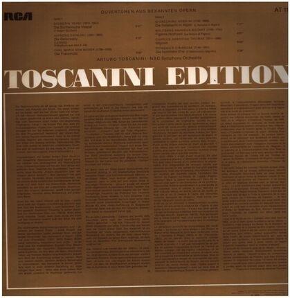 #<Artist:0x00007fcec11b6588> - Ouvertüren aus bekannten Opern (Toscanini)