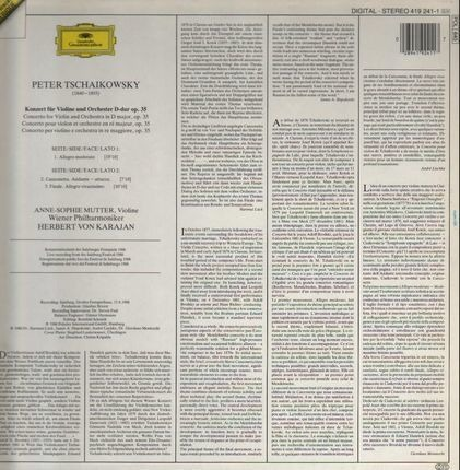 #<Artist:0x0000000008930e10> - Konzert For Violine und Orchester D-dur op.35