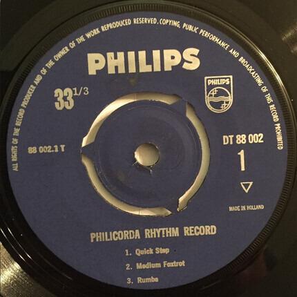 #<Artist:0x00007fcee2be3418> - Philicorda Rhythm Record