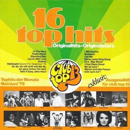 #<Artist:0x00007f3f27dd4150> - 16 Top Hits - Tophits Der Monate Mai/Juni '79