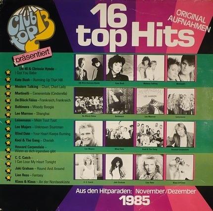 #<Artist:0x00007ff97c983a00> - Die Internationalen Top Hits November/Dezember 1985
