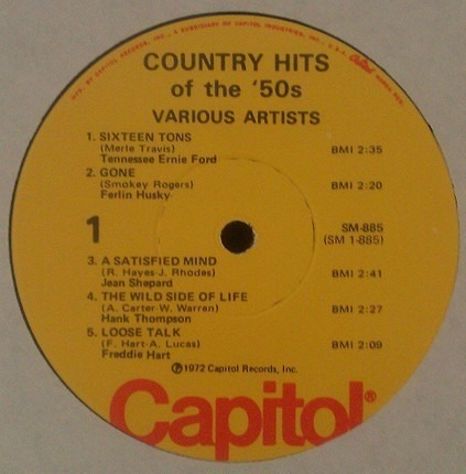 #<Artist:0x000000000830dbf0> - Country Hits Of The '50s