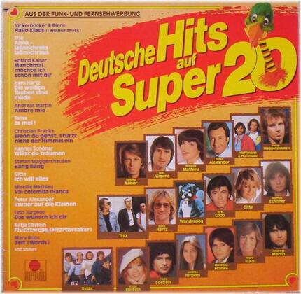 #<Artist:0x00007f652834a118> - Deutsche Hits Auf Super 20