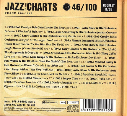 #<Artist:0x00007fcee1c47ce8> - Jazz In The Charts 46/100