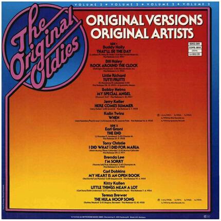 #<Artist:0x00007fcee33ee6d0> - The Original Oldies Volume 2