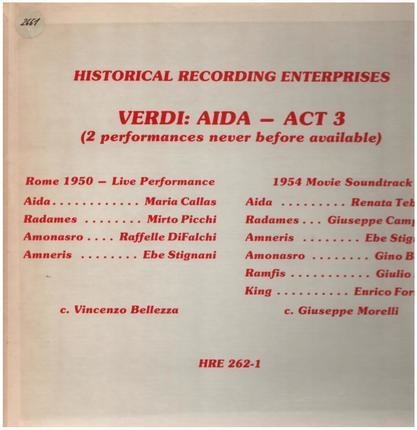 #<Artist:0x00007f740e75f150> - Aida - Act 3 ( 2 Performances Never Before Available)