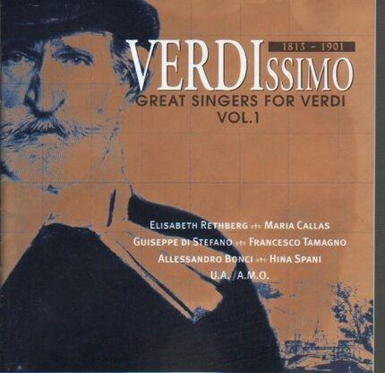 #<Artist:0x00007fcee297ab68> - Verdissimo - Great Singers For Verdi Vol. 1