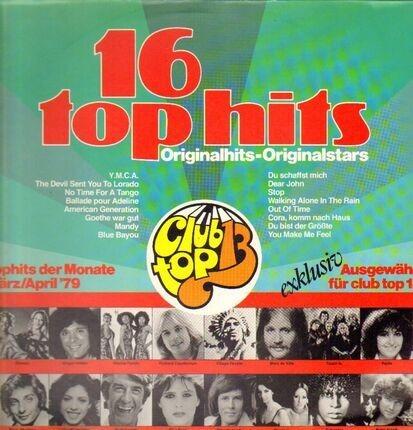 #<Artist:0x00007fe5243d6ee8> - 16 Top Hits - März/April '79