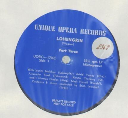 #<Artist:0x00007fd0e07e2d78> - Lohengrin (Erich Leinsdorf, Melchior,..)