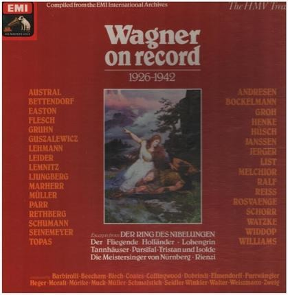 #<Artist:0x00007f740ea70ad8> - Wagner On Record 1926-1942