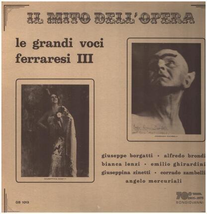 #<Artist:0x00007fcee2b43558> - Le Grandi Voci Ferraresi III