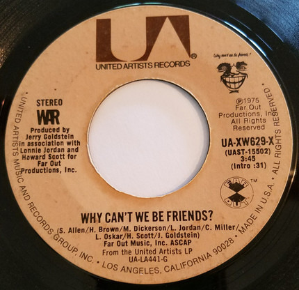 #<Artist:0x00007fcec2c3a7b0> - Why Can't We Be Friends?