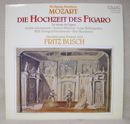 #<Artist:0x00007f92021509f0> - Die Hochzeit Des Figaro = Le Nozze Di Figaro (Glyndebourne Festival 1934)