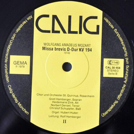 #<Artist:0x00007f51792f2728> - Missa Brevis B-Dur KV 275 & D-Dur KV 194