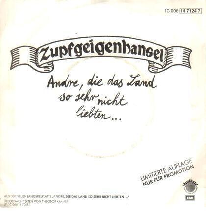 #<Artist:0x00007f41133c2e08> - Andre, Die Das Land So Sehr Nicht Liebten... / Es Ist Schön