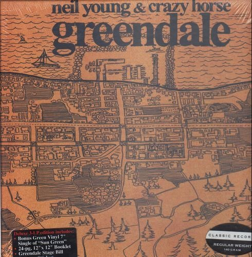 Neil young crazy horse greendale(box 140g still sealed)