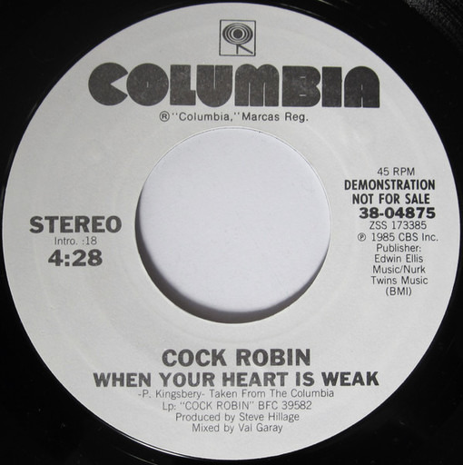 What Cock robin when your heart is weak consider