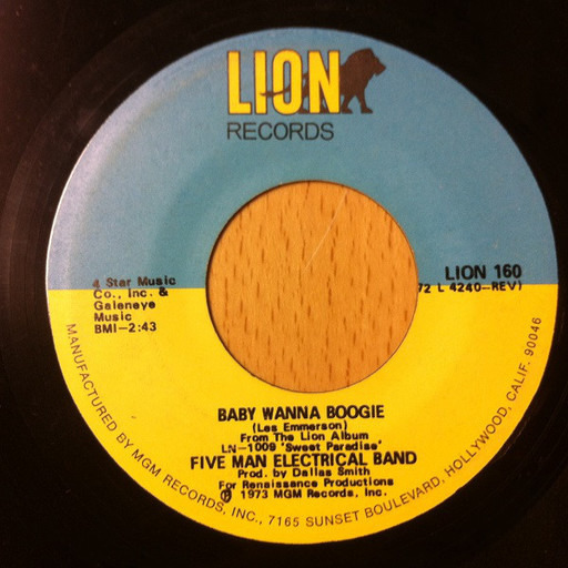 Baby Wanna Boogie - Five Man Electrical Band | 7'' | Recordsale