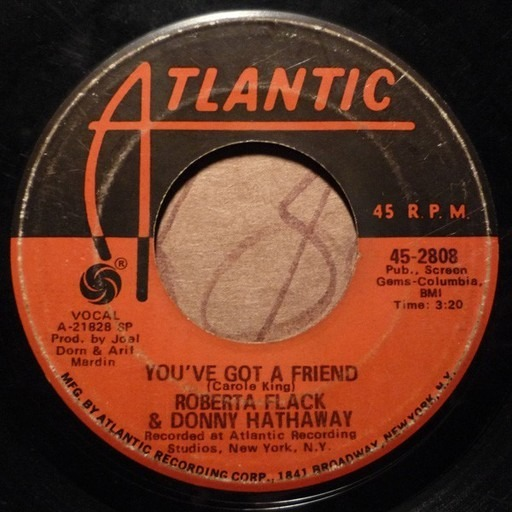 You've Got A Friend / Gone Away - Roberta Flack & Donny Hathaway | 7inch |  Recordsale