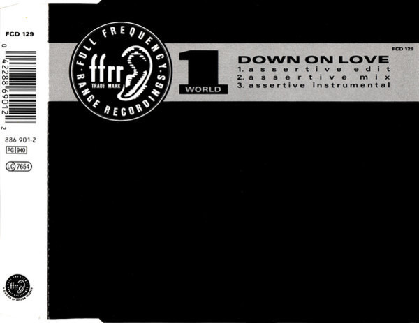1 WORLD - Down On Love - CD single