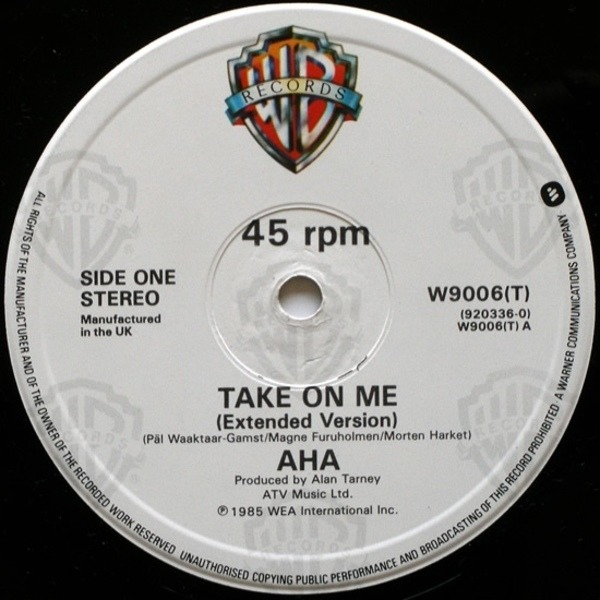 #<Artist:0x007f9f00cf5f20> - Take On Me (Extended Version)