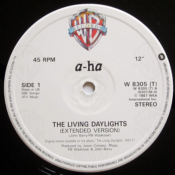 a-ha The Living Daylights (Extended Mix)