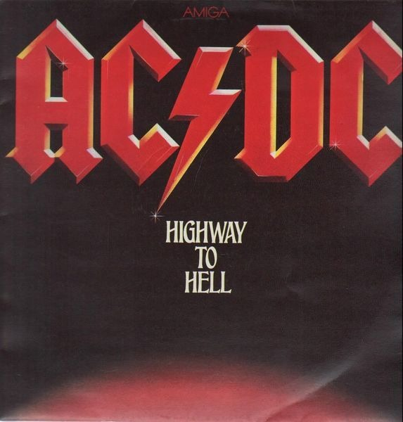 AC/DC highway to hell (red labels)