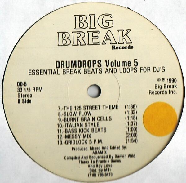 #<Artist:0x007fafc467eb68> - Drumdrops Vol. 5 (Essential Break Beats And Loops For DJ's)