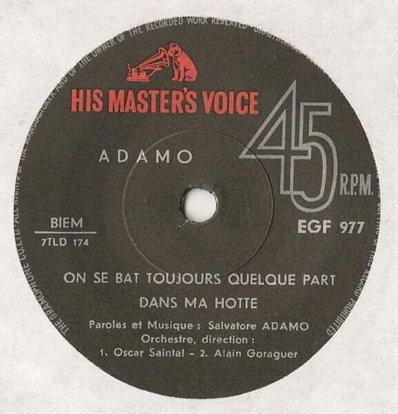 Adamo Notre Roman / Ensemble / Dans Ma Hotte / On Se Bat Toujours Quelque Part