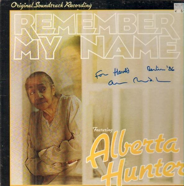alberta hunter remember my name ost (signed)