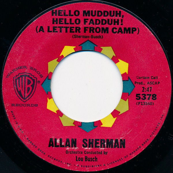 #<Artist:0x007f67030bc4c8> - Hello Mudduh, Hello Fadduh! (A Letter From Camp) / Here's To The Crabgrass