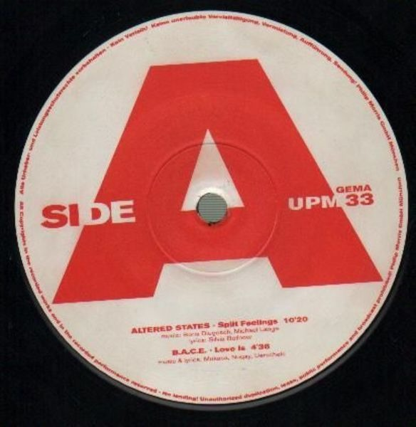 ALTERED STATES, B.A.C.E, CELO-SOUND, UNITY - Sound Of The Minister House EP - 12 inch x 1