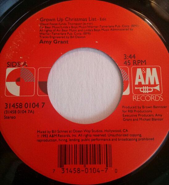 grown up christmas list edit amy grant - Amy Grant Grown Up Christmas List