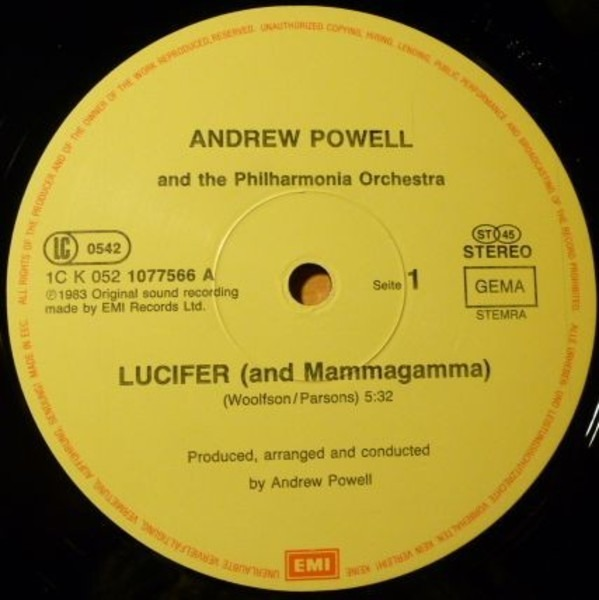 Andrew Powell And The Philharmonia Orchestra Lucifer / Time