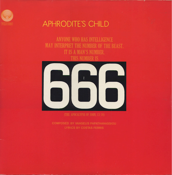 aphrodite's child 666 (spaceship labels sdrm / gatefold)