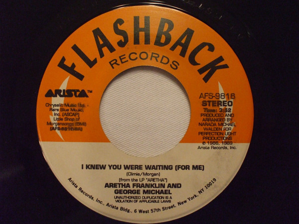 Aretha Franklin And George Michael / Aretha Frankl I Knew You Were Waiting (For Me) / Rock-A-Lott
