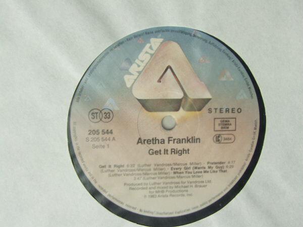 Aretha Franklin Get It Right