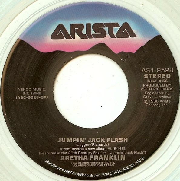 Aretha Franklin Jumpin' Jack Flash (CLEAR)