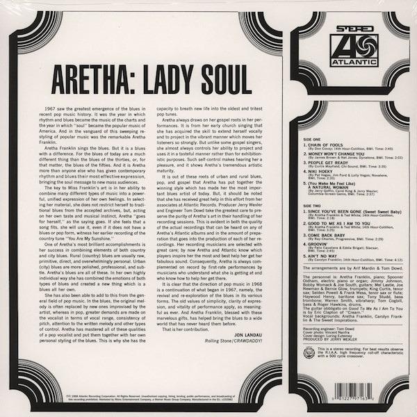 Aretha Franklin Lady Soul (180G / STEREO)