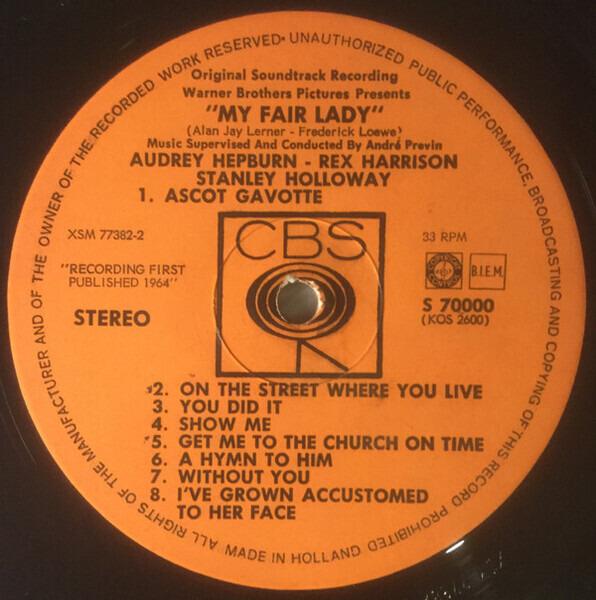 Audrey Hepburn , Rex Harrison My Fair Lady (The Original Sound Track Recording)